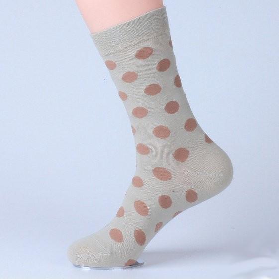 Béžovo - hnědé ponožky Dot