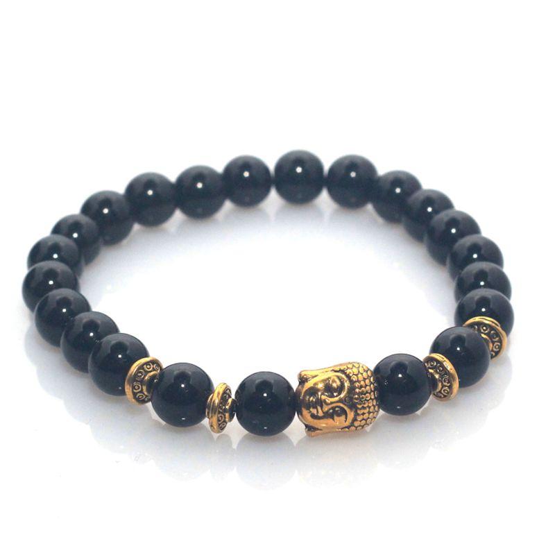 f05515e45 Černo - zlatý náramek Buddha I.   Levné manžetové knoflíčky, Spona ...