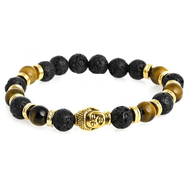 9c1eed94a Černo - zlatý náramek Buddha   Levné manžetové knoflíčky, Spona na ...
